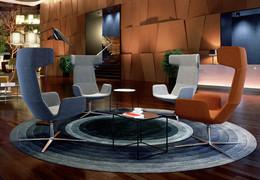 Swivel armchair FLEXI XL
