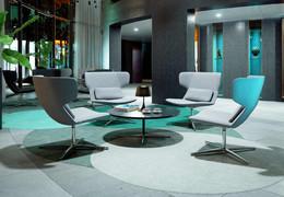 Swivel armchair FLEXI L